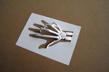 sculptures made out of a single paper sheet