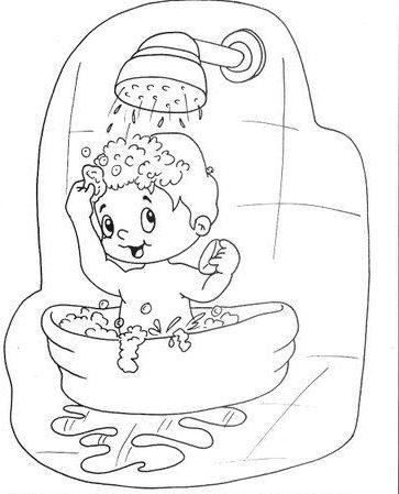 Ducha Dibujos Niño Despertando Para Colorear Wwwimagenesmycom