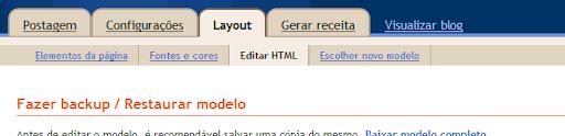 Layout -> HTML