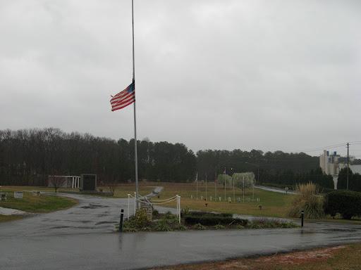 Flag at half mast in honor of Bob