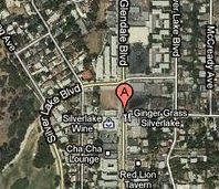 Map of Silver Lake shooting on Glendale Boulevard near Brier Street.