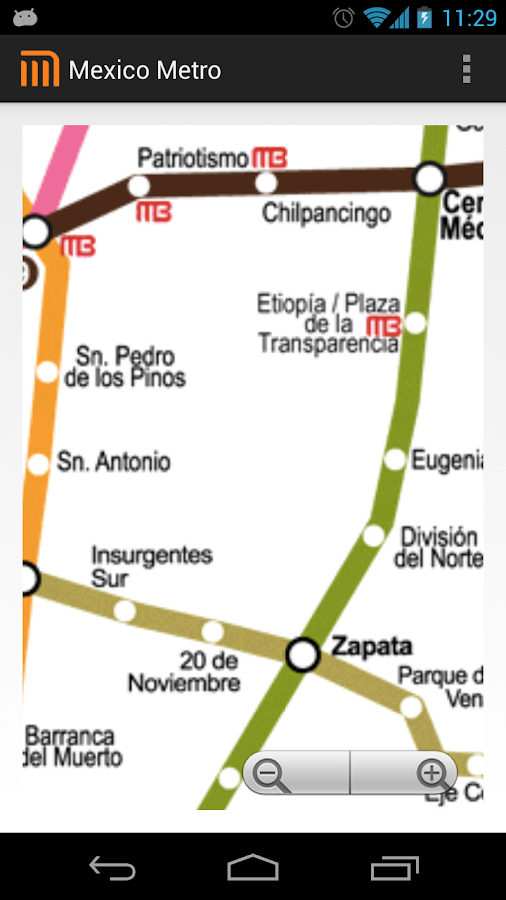 Mexico D.F Metro MAP - screenshot