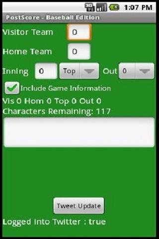 Post Score - Baseball Edition - screenshot