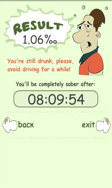 Blood Alcohol Calculator+TIMER- screenshot