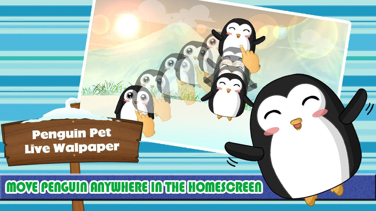 Penguin Pet Live Wallpaper- screenshot