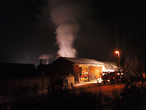 Scheunenbrand in Unterleinach