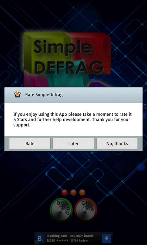 Simple Defrag Tablet FREE - screenshot