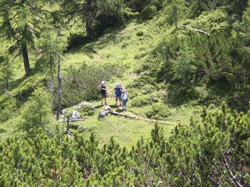 Die letzten Meter bis zum Gipfelkreuz
