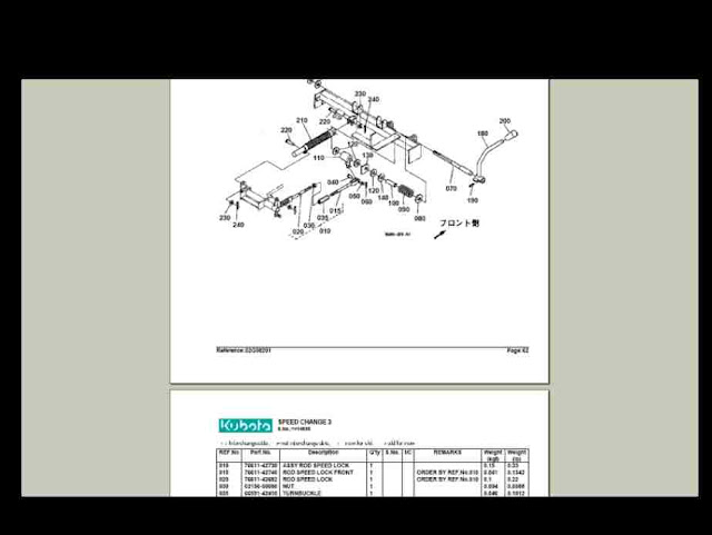 kubota l2900dt tractor illustrated master parts manual instant download