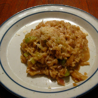 Mahogony Risotto with Two Celeries Recipe