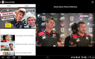 Screenshot of St Kilda Official App