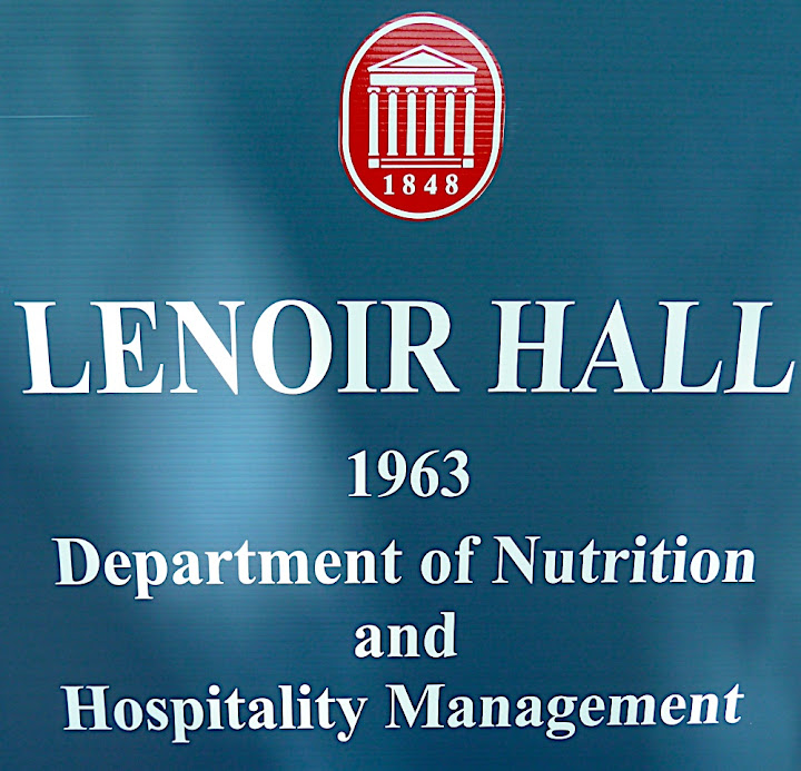 LENOIR HALL, 1963, Department of Nutrition and Hospitality Management