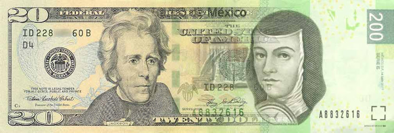 dollars and pesos in Baja California