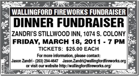 Wallingford politico wallingford fireworks fund dinner for Fundraiser dinner tickets template