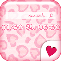 Cute wallpaper★Pink leopard icon