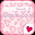Cute wallpaper★Pink leopard icon