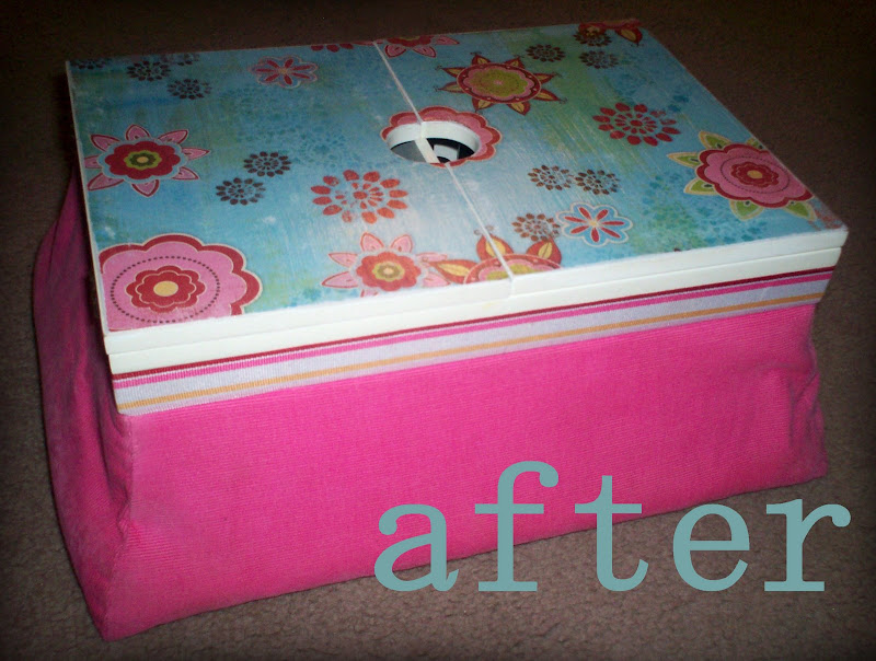 Seriously Daisies Altered Manicure Lap Desk