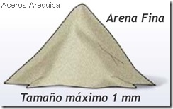 Arena Gruesa y fina