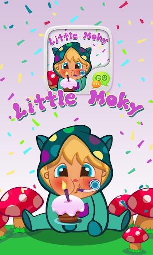 GO SMS PRO LITTLE MOKY STICKER