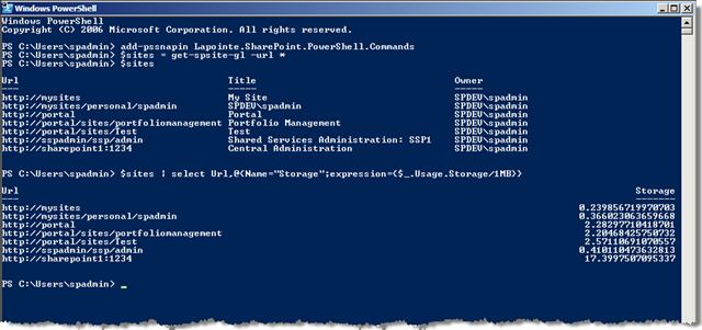 Initial Release of My SharePoint PowerShell Cmdlets
