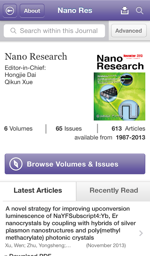 Nano Research - screenshot