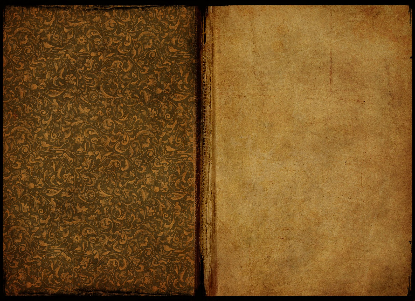 Free Wallpaper Dekstop: Old Books And Papers Set