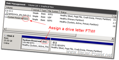 drive letter system reserved