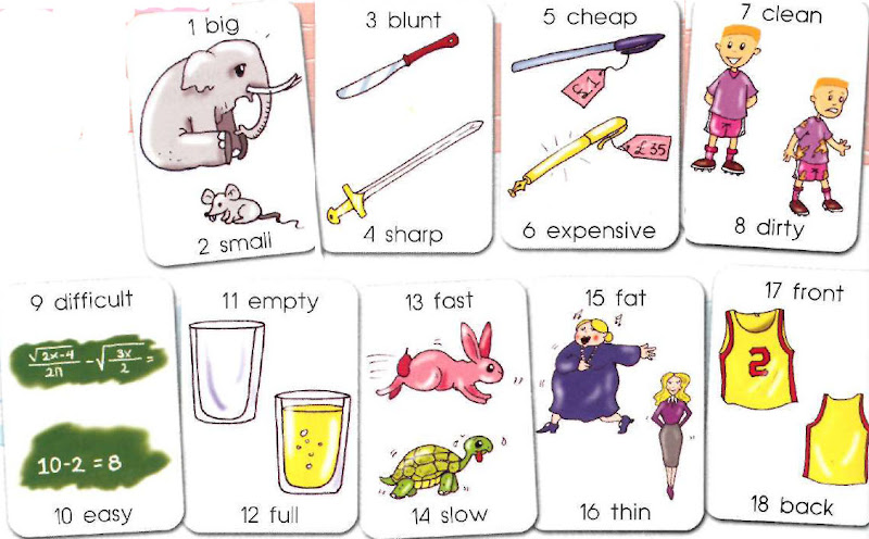 Number Names Worksheets list of opposites for preschoolers : Picture Dictionary Online - Dictionary for Kids