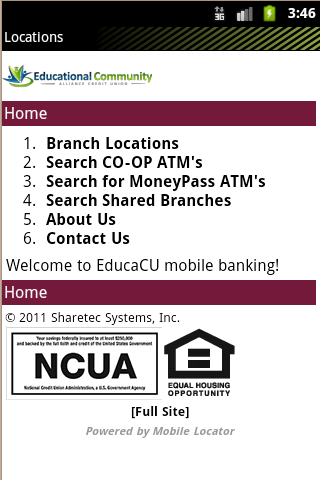 EduCa CU Mobile Banking- screenshot
