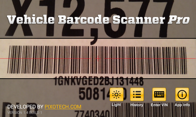 Vehicle Barcode Scanner Pro - screenshot