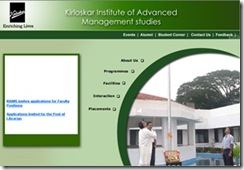 KIAMS : Kirloskar Institute of Advanced Management Studies