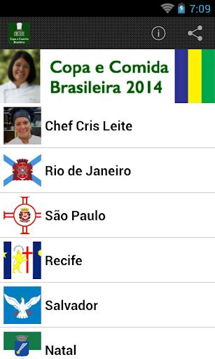 Copa e Comida Brasileira