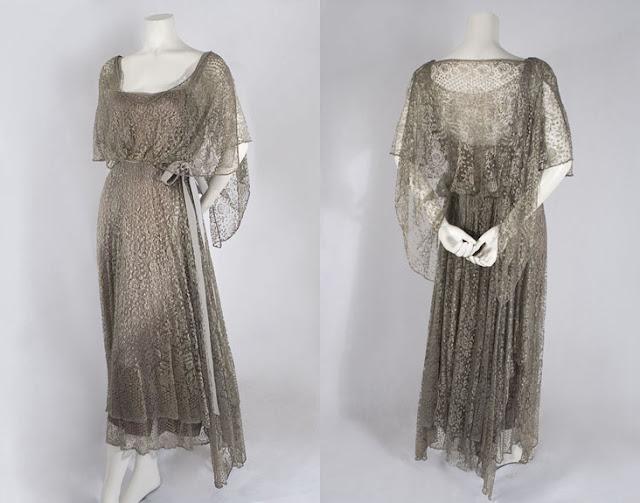 Little Winter Bride: 1920's Silk Lace Dress