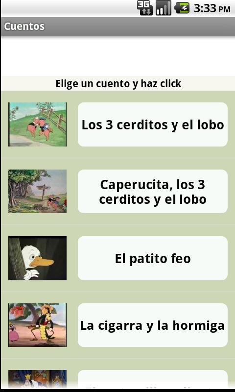Cuentos - screenshot