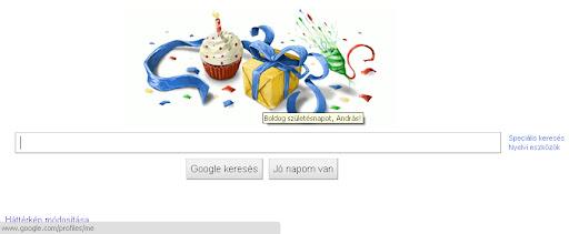 Szülinapi köszöntő a 31.-en a Googletől