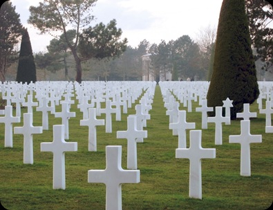 US cemetery, Colleville-sur-Mer, Calvados, Normandy rows