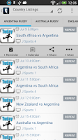 Screenshot of Live Rugby On TV