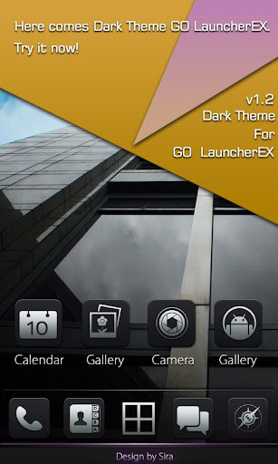 Dark Pro GO Locker Theme v1.00