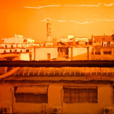 Genève vue à travers un filtre orange