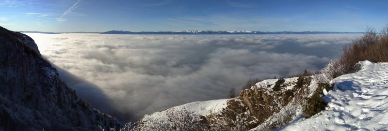 Mer de nuages depuis le Salève