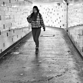Tunnel Vision by Michael Summers - People Street & Candids ( underpass, olympus omd e-m5, candid, tunnel )