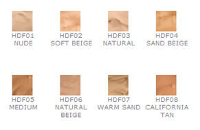 nyx hd foundation swatches