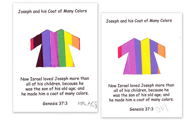 Coat Of Many Colors Craft Preschool