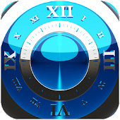 Blue Deluxe Clock Widget