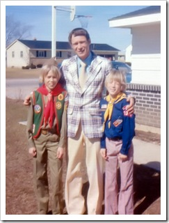 Jim Wright with Kids in Scout Uniforms