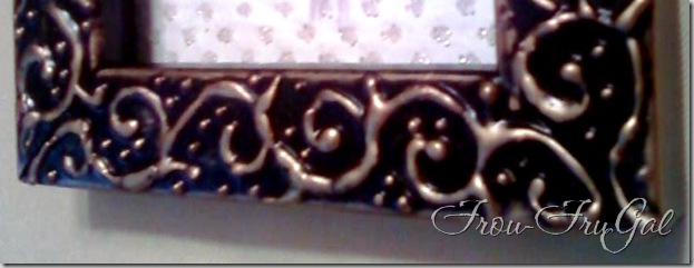 Frou FruGal: Making Your Own Embossed Picture Frame