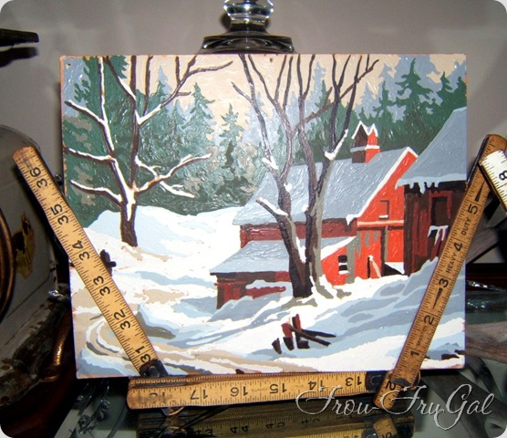paint by numbers winter scene