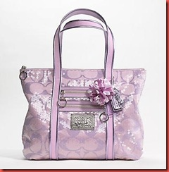Coach Handbags Touchable Glamour Fresh Spring Shades And The Joyful Burst Of Poppy Details In A Classic Tote Signature Fabric With Sequins Leather