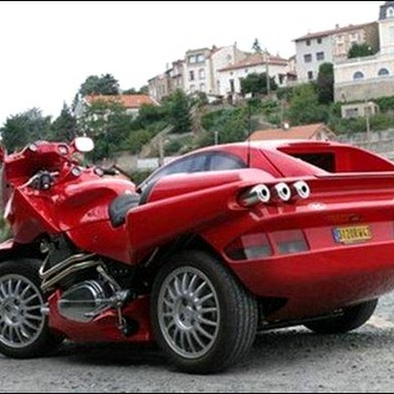 Необычный Ferrari Car-Motorcycle