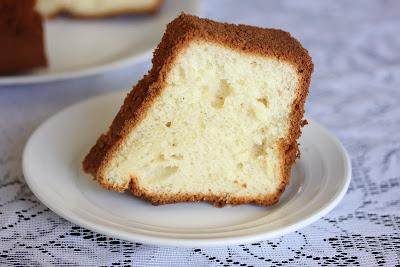 close-up photo of a slice of Vanilla chiffon cake